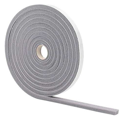 M-D Building Products 2097 M-D 0 Low Density Open Cell Self-Adhesive Foam Tape, 17 Ft L X 1/2 in W 3/8 in T, Gray, H