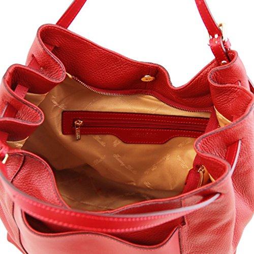 Tuscany Leather Cinzia Shopper Tasche aus weichem Leder Lipstick Rot Lipstick Rot