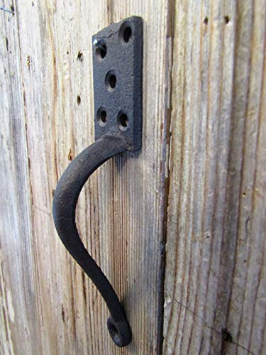 Big Sky Antiques Cast Iron Gate Pull Handle 6'' Rustic Brown by Big Sky Antiques (Image #3)