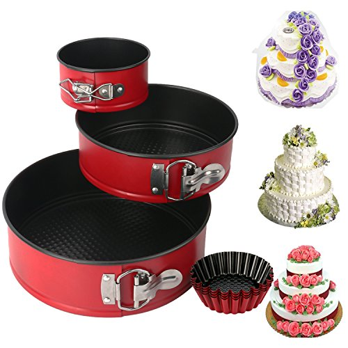 Springform Pan set, MCIRCO Nonstick Leakproof 3pcs Cake Pan