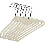 Velvet Baby Hangers (Pack of 25) Small Clothes Hanger - Non Slip - Space Saver (Ivory Color) by Utopia Home