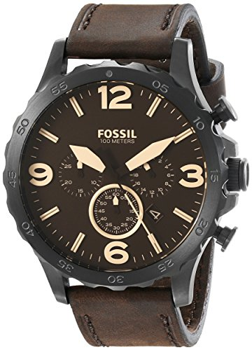 fossil-mens-jr1487-nate-stainless-steel-watch-with-brown-leather-band