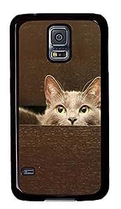 Samsung Galaxy S5 Hide the cat PC Custom Samsung Galaxy S5 Case Cover Black