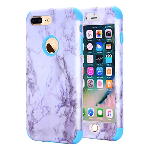 Drive Panel Belt Fan (Asstar iPhone 7 Plus Case, 3 In 1 Unique Marble Design Slim Anti-Scratch Shockproof Anti-Finger Protective Cover Case for Apple iPhone 7 Plus 2016 Release(Blue))