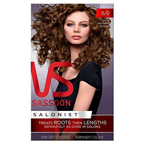 Vidal Sassoon Hair Dye Light Neutral Brown 6/0 (PACK OF 4) by Vidal Sassoon