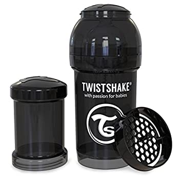 330ml Twistshake Anti-Colic Bottle Black