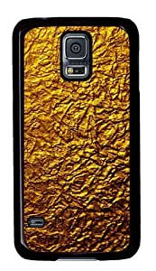 golden texture PC Case Cover for Samsung S5 and Samsung Galaxy S5 Black