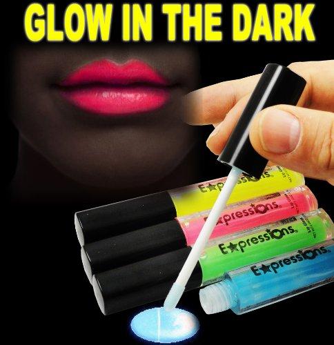 Glow In The Dark Lip Gloss 4-Piece Set AL#GG10911
