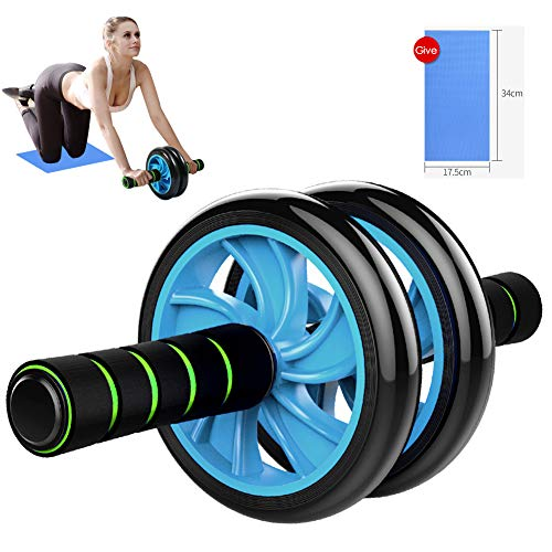 Ab Roller Wheel - Sturdy Ab Workout Equipment for Core Workout - Ab Exercise Equipment as Abdominal Muscle Toner - Ab Exercise Equipment Used as at Home Workout Equipment for Both Men & Women