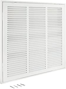 """EZ-FLO 61656 Return Air Filter Grille, 18 inch x 18 inch Opening, White, 18"""" x 18"""""""