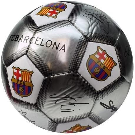 5, Crest-Silver) - FC Barcelona Official Signature Crest Football ...
