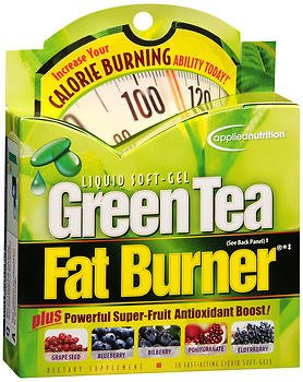 Applied Nutrition Green Tea Fat Burner Liquid Soft-Gels 30 Soft Gels (Pack of 5)