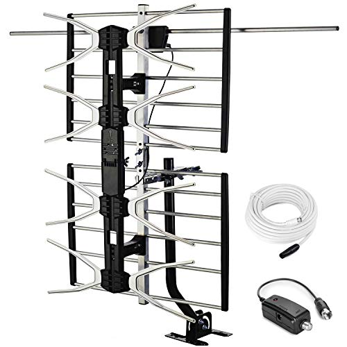 pingbingding Outdoor Digital HD TV Antenna with High Gain Amplifier 150 Mile Long Range for UHF/VHF
