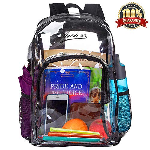 """Clear Backpack, Heavy Duty See Through Backpack, 16"""" Transparent Large Backpack for College"""
