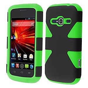 HR Wireless Dynamic Cover for ZTE Concord II Z730 - Retail Packaging - Black/Neon Green