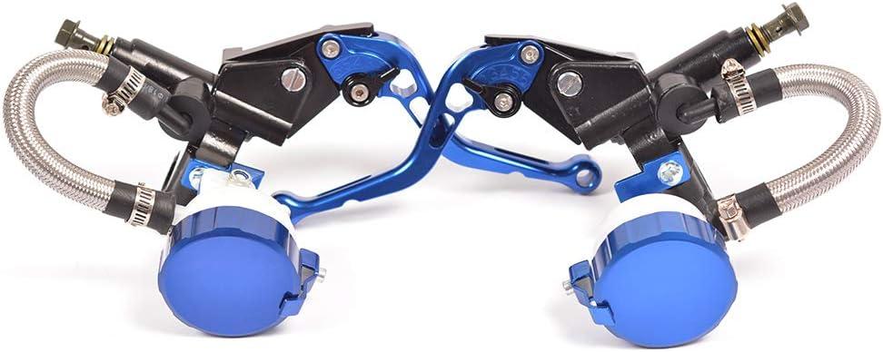 WildBee Doubles Pompes Universal Bleu Moto Ajustable Frein /à main Master Cylinder avec r/éservoir de fluide