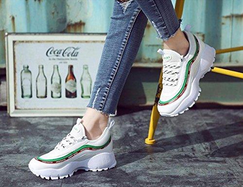 White la Aumentan Las de Ocasionales Zapatillas de Shoot Ladies de de Altura Transpirables Calle Zapatillas Plataforma Las Deporte Street Zapatillas wPHFq4wx