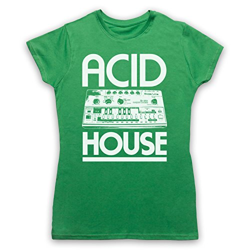 Acid House Bass Synth Camiseta para Mujer Verde