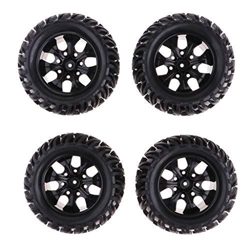 B Blesiya 4Pcs Wheels Tire Tyres Set for 1/10 RC Car HPI Savage Flux XS Monster Truck