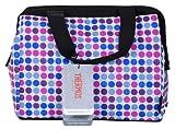 Thermos Raya 9 Can Duffle Bag Purple & Blue Polka Dot Design