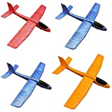 Flying Toys Foam Throwing Glider Air Plane Toy Plan Model Outdoor Sports Toy for Kids Pack of 4(18.8inch)