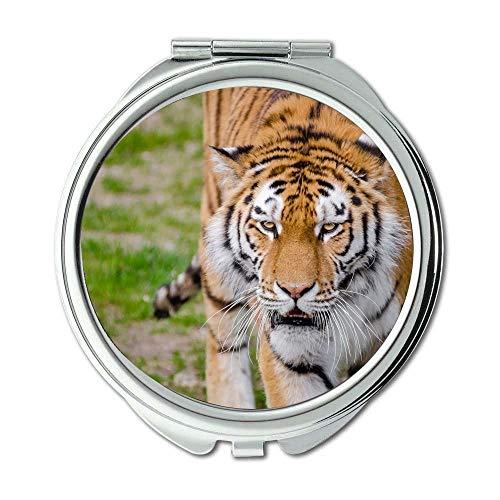 Mirror,Compact Mirror,animal animal photography big cat,pocket mirror,portable -