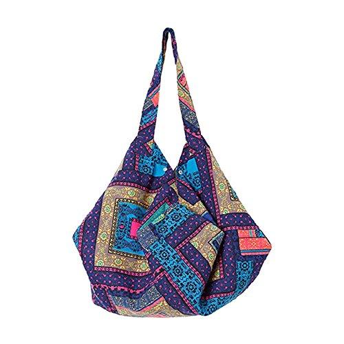 Funbase Bohemian Shoulder Cotton Large Travel Bag Bag Women 1 Bucket Beach Hobo FqwFRanrS