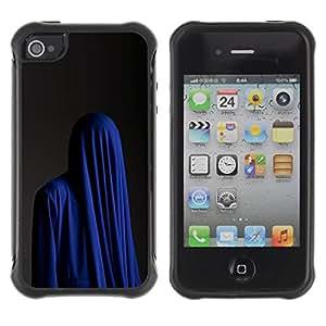 Paccase / Suave TPU GEL Caso Carcasa de Protección Funda para - Fashion Religion Muslim Burka Blue - Apple Iphone 4 / 4S