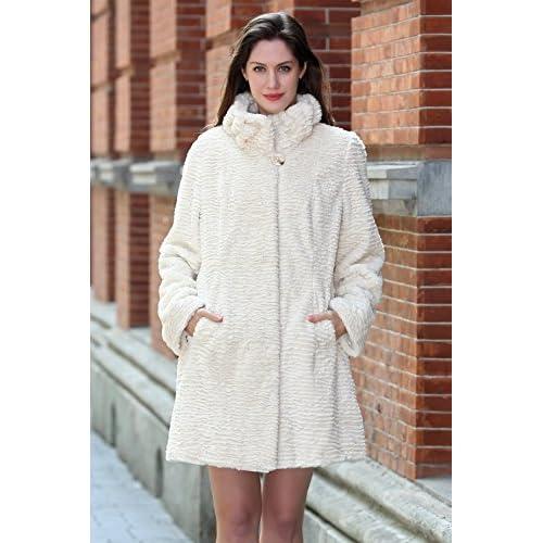 salida Adelaqueen Estupendo abrigo tres cuartos de invierno de piel ...