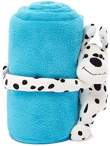 HUGZ Stuffed Animal Plush with Super Soft Microplush Toddler Blanket, 40