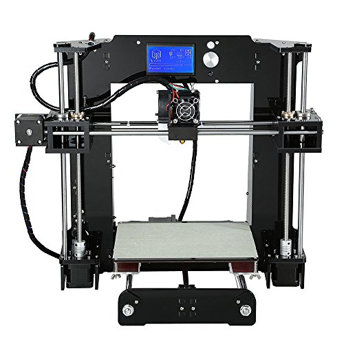 A6 High Precision Big Size Desktop 3D Printer Kits Reprap Prusa i3 DIY Self Assembly LCD Screen with 16GB SD Card Printing Size 220*220*250mm Support ABS/PLA/HIP/PP/Wood Filament njord