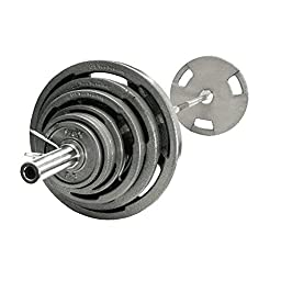 VTX 300 lb. Olympic Grip Plate Weight Set