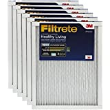 Filtrete MPR 1900 20 x 30 x 1 Healthy Living Ultimate Allergen Reduction HVAC Air Filter, Captures Fine Inhalable Particles, Delivers Cleaner Air Throughout Your Home, 6-Pack
