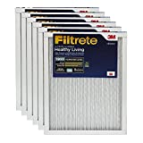 Filtrete Healthy Living Ultimate Allergen Reduction AC Furnace Air Filter, Delivers Cleaner Air Throughout Your Home, Uncompromised Airflow, MPR 1900, 16 x 25 x 1, 6-Pack