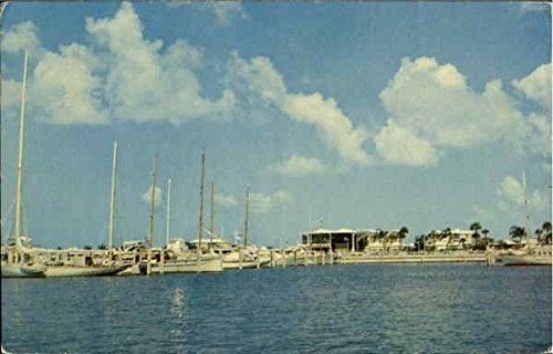 Marina And Yacht Basin Sarasota, Florida Original Vintage Postcard