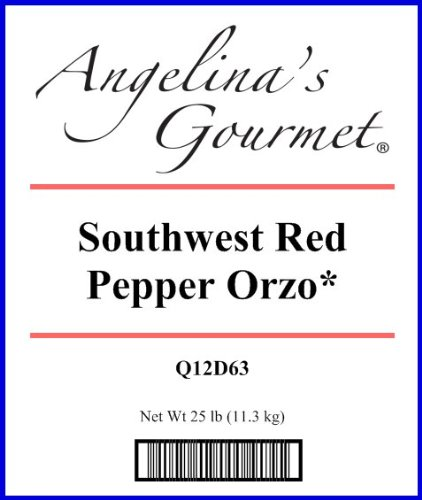 Orzo, Southwest Red Pepper* - 25 Lb Bag Each by Woodland Ingredients