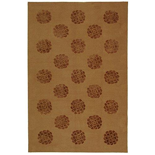 Safavieh Martha Stewart Collection MSR5634K Medallions Premium Wool and Silk Cocoa Area Rug (8'6
