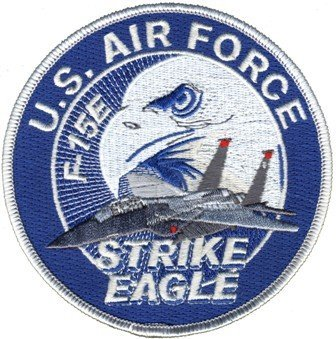 "U.S. Air Force F-15E Strike Eagle 4"" Patch, used for sale  Delivered anywhere in USA"