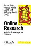 img - for Online- Research. Methoden, Anwendungen und Ergebnisse. book / textbook / text book