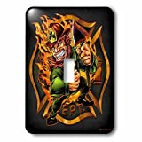 3dRose lsp_252448_1 Leprechaun Firefighter Logo Single Toggle Switch