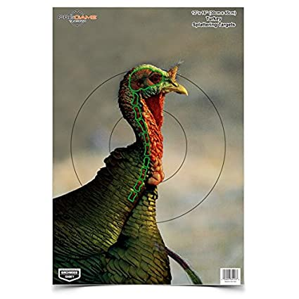 picture about Free Printable Turkey Shoot Targets named Birchwood Casey 35403 Taking pictures Emphasis Pre Sport Turkey Focus 12 x 18, 8-Pack