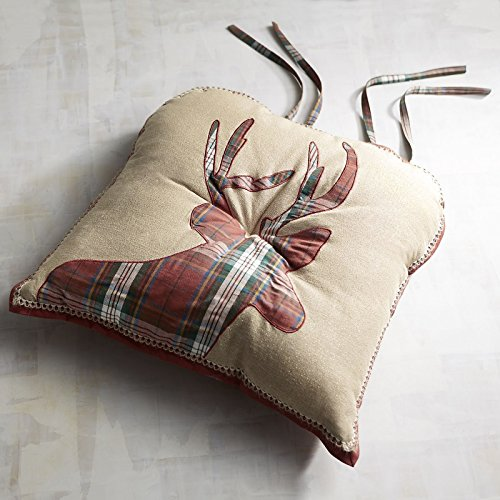 - Pier 1 Imports Plaid Deer Dining Chair Cushion