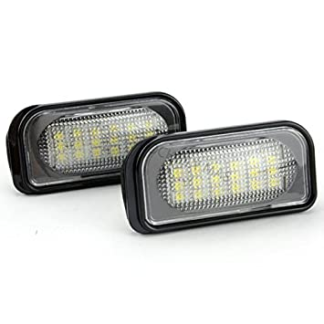 TMT LEDS(TM) PLAFONES LED MATRICULA HOMOLOGADO E11 CE LUCES LED: Amazon.es: Coche y moto