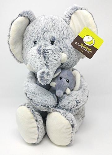 Animal Adventure - Plush ELEPHANT and BABY ELEPHANT (Appr 12.5 Inch)