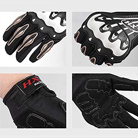 guantes de carreras Locomotive M//L//XL conducci/ón fuera de carretera guantes protectores resistentes a los golpes Guantes de verano para motocicleta con dedos completos para deportes al aire libre