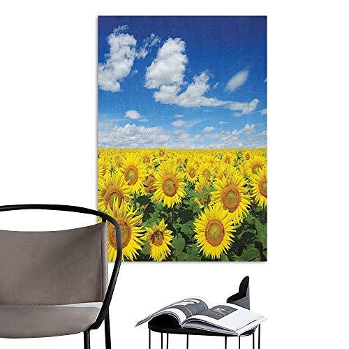 Jaydevn Wall Mural Wallpaper Stickers Sunflower Fresh Sunflowers