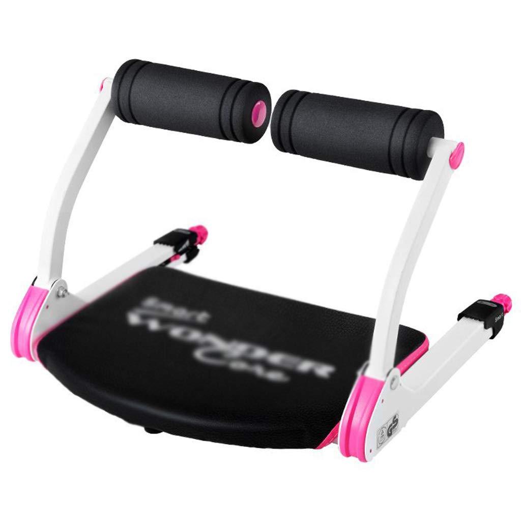 ピンク腹部腹部補助多機能仰臥位運動エクササイズ機器ホーム腹部折りたたみ収縮、ミニセーブスペース (Color : Pink, Size : 52 * 55 * 38cm) 52*55*38cm Pink B07GW62NCJ