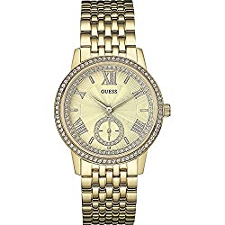 GUESS W0573L2,Ladies Dress Elegant,Gold Tone With Crystals,WR