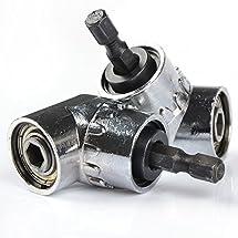 StarSide 2 Pcs 105° Angle Drill Bit Extender 1/4'' Hex Screwdriver Holder Adaptor