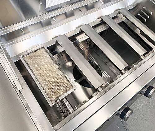 GRILLJOB Quemador infrarrojo de cer/ámica 15000BTU compatible con Cal Flame BBQ07890P Parrilla SEAR Zona Quemador IR Reemplazo para muchas parrillas de gas